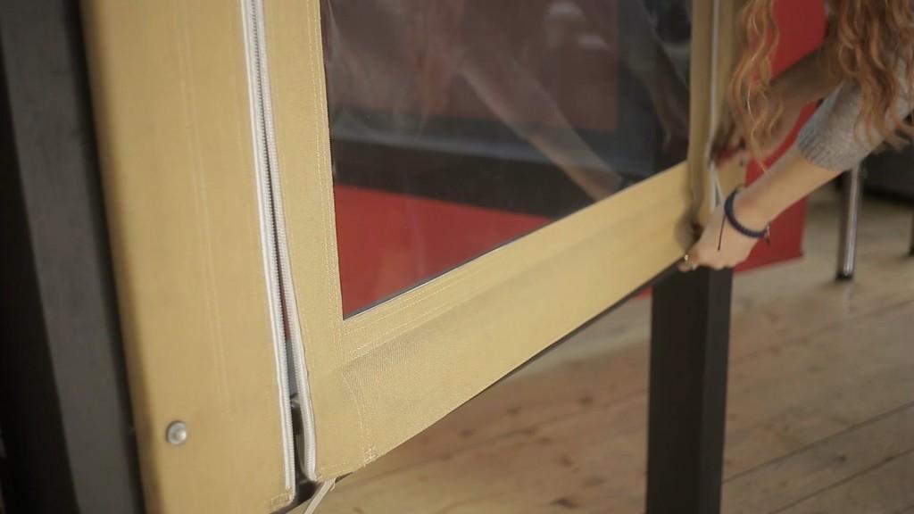 прозрачные окна с тканью фирмы сатлер
